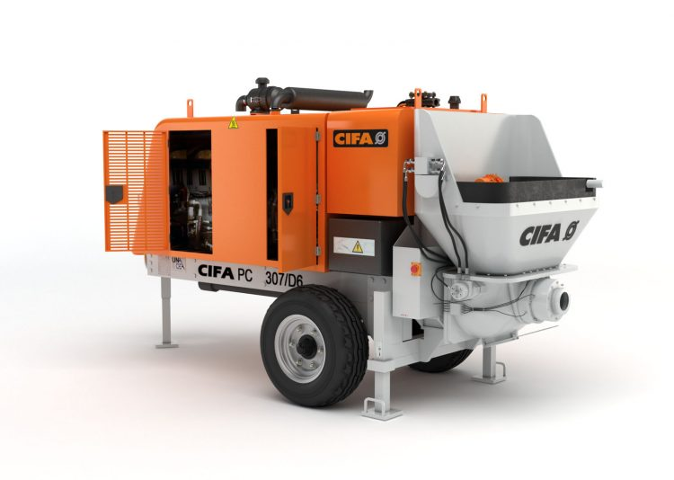 CIFA portable concrete pumps